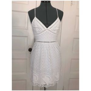 White Dress w/ lace/crochet overlay